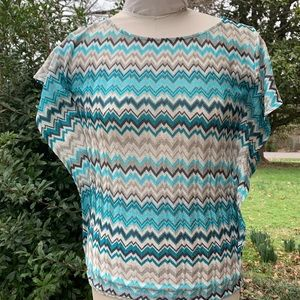 LIMITED 70s Inspired Size Small Chevron Blouse